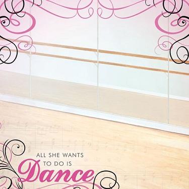 Dance Studio 12x12 Scrapbooking Paper