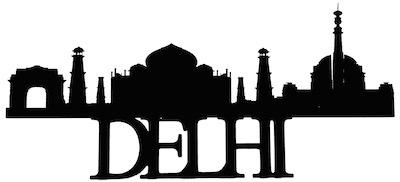 Delhi Scrapbooking Laser Cut Title with Skyline