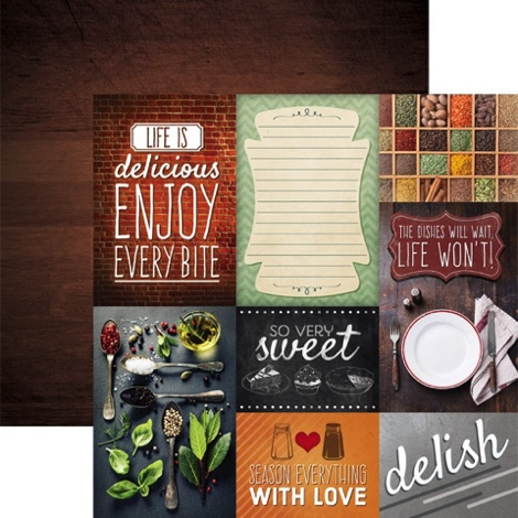 Delish Tags 12x12 Double Sided Scrapbooking Cardstock