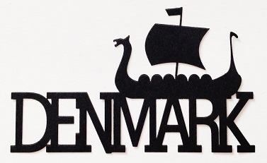 Denmark Scrapbooking Laser Cut Title with Viking ship