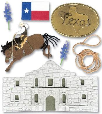Destination Texas Jolees 3D Scrapbooking Stickers