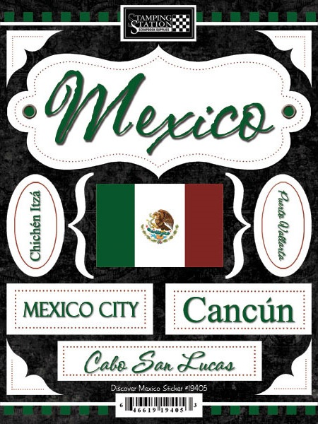 Discover Mexico Scrapbooking Stickers