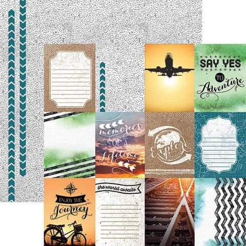 Discover Tags 12x12 Double Sided Scrapbooking Cardstock