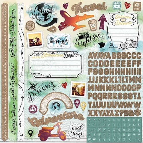 Discover 12x12 Cardstock Scrapbooking Stickers and Alphabets