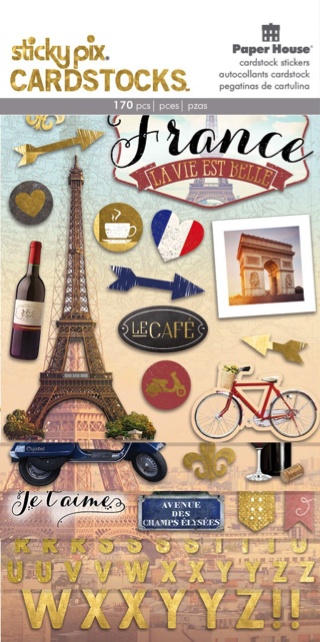 Discover France Scrapbooking Sticker Multi Pack