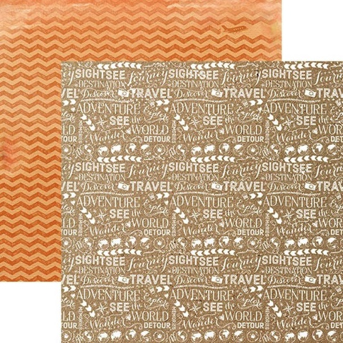 Discover Words 12x12 Double Sided Scrapbooking Paper