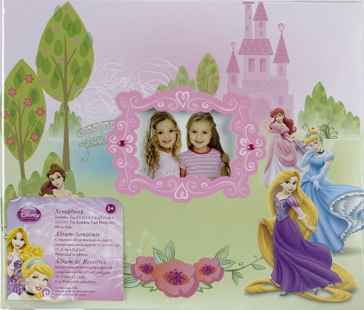 Disney Princess 8x8 Postbound Scrapbook Album with window