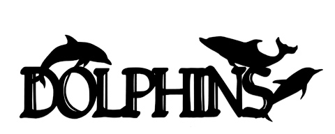 Dolphins Scrapbooking Laser Cut Title with Dolphins