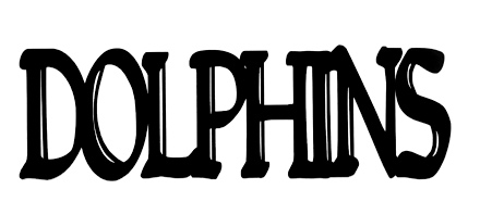 Dolphins Scrapbooking Laser Cut Title