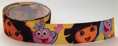 Dora and Boots Self Adhesive Scrapbooking Ribbon