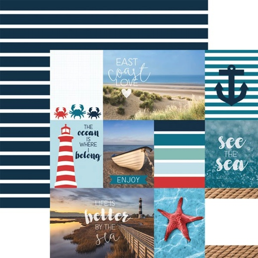 East Coast Tags 12x12 Double Sided Scrapbooking Paper
