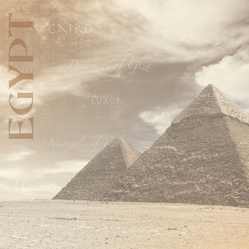 Pyramids of Egypt 12x12 Scrapbooking Paper