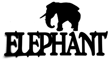 Elephant Scrapbooking Laser Cut Title with Elephant