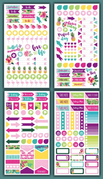 Embrace Today Scrapbooking Sticker Sheets