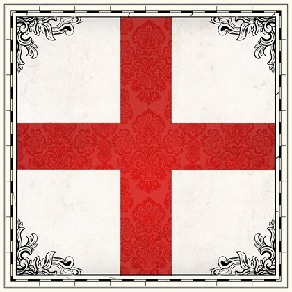 England Sightseeing Flag 12x12 Scrapbooking Paper