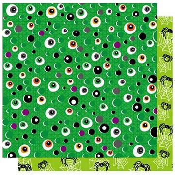 Trick or Treat Eyeball 12x12 Double Sided Gitter Cardstock