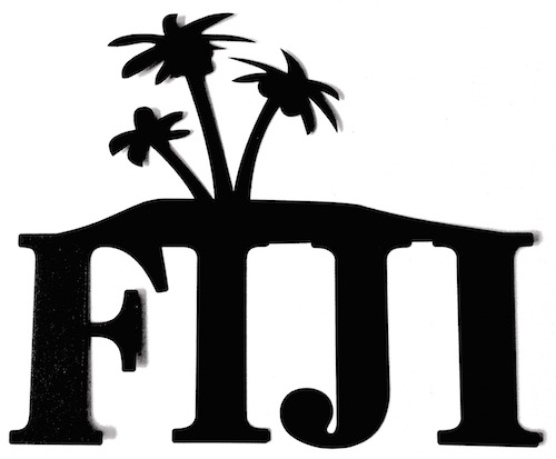 Fiji Scrapbooking Laser Cut Title with Palm Trees