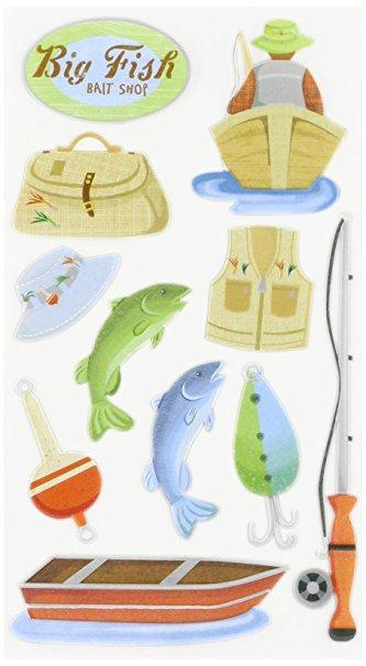 Fishing Scrapbooking Stickers