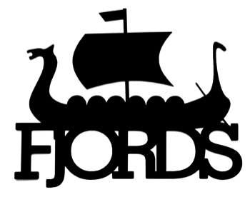 Fjords Scrapbooking Laser Cut Title with Viking ship