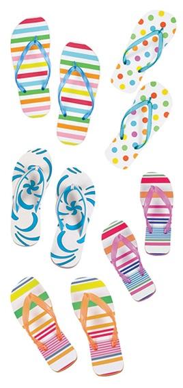 Flip Flops Scrapbooking Mini Stickers