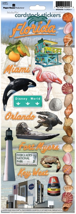 Florida Cardstock Scrapbooking Stickers