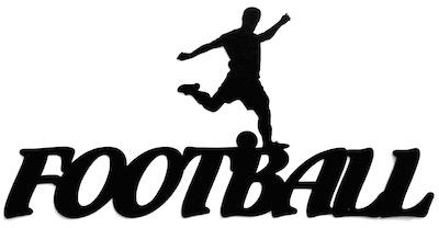 Football Scrapbooking Laser Cut Title with footballer