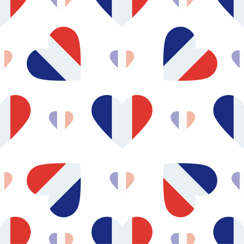 French Hearts 12x12 Scrapbooking Paper