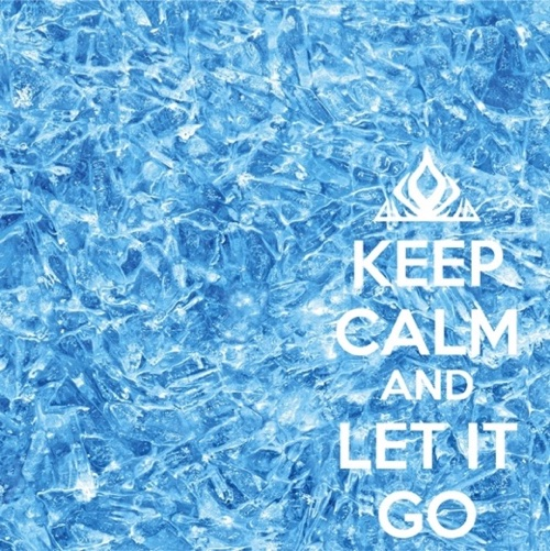 Frozen Keep Calm and Let It Go 12x12 Scrapbooking Paper