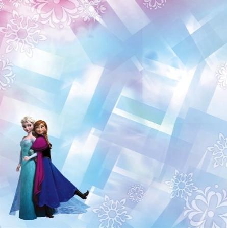 Frozen Sisters 12x12 Scrapbooking Paper