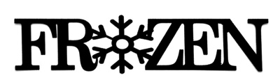 Frozen Scrapbooking Laser Cut Title with Snowflake