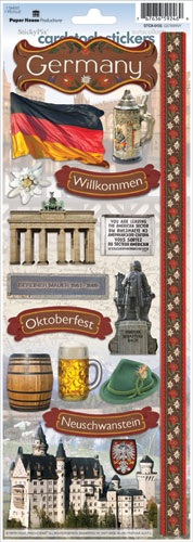 Germany Cardstock Scrapbooking Stickers