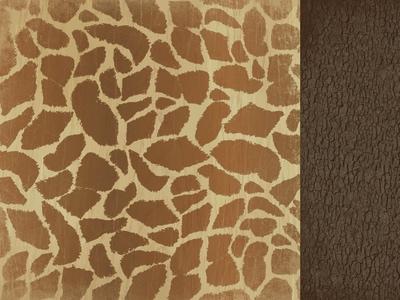 Giraffe 12x12 Double Sided Scrapbooking Paper