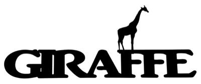 Giraffe Scrapbooking Laser Cut Title with Giraffe