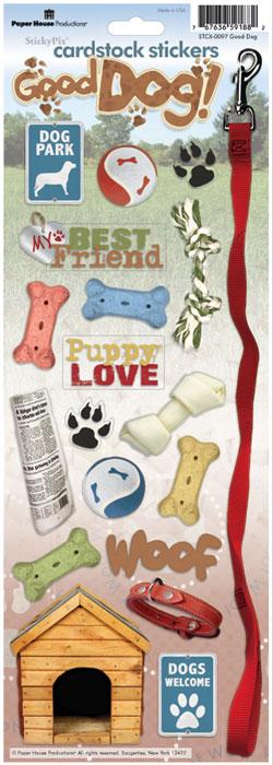 Good Dog Cardstock Scrapbooking Stickers