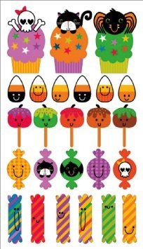 Halloween Candy Scrapbooking Epoxy Stickers