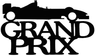 Grand Prix Scrapbooking Laser Cut Title with Car