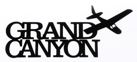 Grand Canyon Scrapbooking Laser Cut Title with Plane