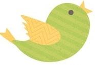 Green Bird Die Cut Scrapbooking Sticker