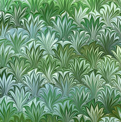 Green Swirl 12x12 Scrapbooking Paper