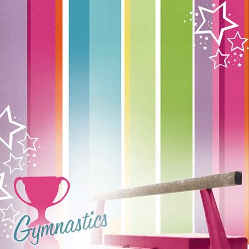 Gymnastics 12x12 Scrapbooking Paper