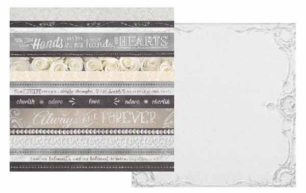 Hands and Heart 12x12 Double Sided Scrapbooking Paper