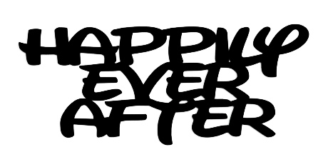 Happily Ever After Scrapbooking Laser Cut Title