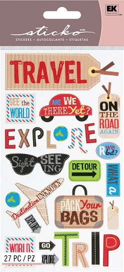 Happy Travel Scrapbooking Stickers