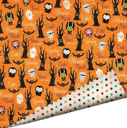 Haunted Forest 12x12 Double Sided Scrapbooking Cardstock with Varnish