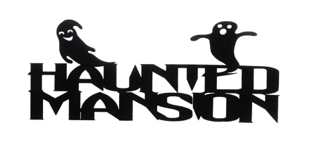 Haunted Mansion Scrapbooking Laser Cut Title with Ghosts