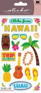 Hawaii Scrapbooking Stickers