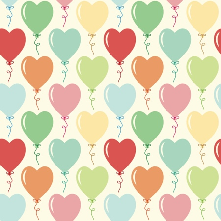 BULK BUY Heart Balloons 12x12 Scrapbooking Paper - 25 Sheets