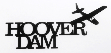 Hoover Dam Scrapbooking Laser Cut Title with Plane