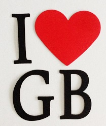 I Heart Great Britain Scrapbooking Laser Cuts