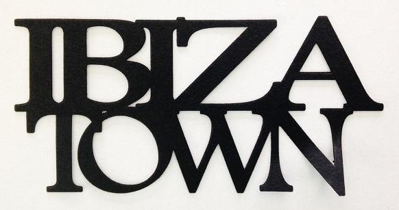 Ibiza Town Scrapbooking Laser Cut Title